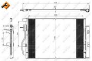 Радиатор кондиционера NRF 350044