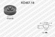 Комплект ГРМ SNR KD457.18