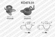 Комплект ГРМ SNR KD473.01