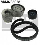 Ремень генератора (комплект) SKF VKMA 36038