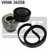 Ремень генератора (комплект) SKF VKMA 36058