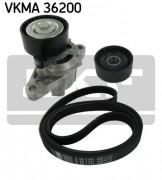 Ремень генератора (комплект) SKF VKMA 36200