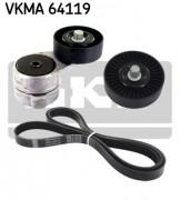 Ремень генератора (комплект) SKF VKMA 64119