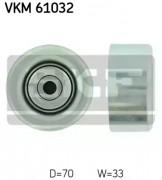 Ролик натяжителя ремня (паразитный, ведущий) SKF VKM 61032