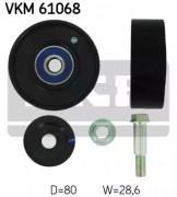 Ролик натяжителя ремня (паразитный, ведущий) SKF VKM 61068