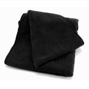Мягкая, плотная микрофибра для ухода за ЛКП автомобиля, приборной панелью, дверными картами и кожей DeWitte Microfibre Cloth Maxi Black (40х85 см)