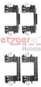 Монтажный комплект тормозных колодок QUICKBRAKE METZGER 109-1757