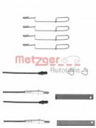 Монтажный комплект тормозных колодок METZGER 109-1280X
