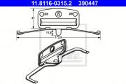 Монтажный комплект тормозных колодок ATE 11.8116-0315.2