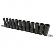Набор длинных ударных головок 1/2'' 8-22мм (на планке) Toptul GAAQ1614D (12шт)