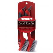 Комплект экстрамягких детейлинг-щеток для очистки эмблем, швов сидений, стыков, шин, дисков Mothers Detail Brushes 156200 (2шт)