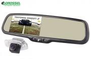 Система видеопарковки: штатная камера заднего вида Gazer CC100-xxx + зеркало заднего вида Gazer MM70x