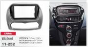 Переходная рамка Carav 11-252 Citroen C-Zero 2010+, Peugeot iOn EV 2009+, Mitsubishi i MiEV 2009+ 2-DIN