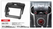 Переходная рамка Carav 11-292 Chevrolet TrailBlazer 2012+. ISUZU D-Max 2012+, HOLDEN Colorado 2012+ (Black), 2-DIN