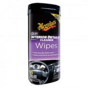 Салфетки для быстрой очистки салона Meguiar's G13600 Quik Interior Detailer Cleaner (18х23см) 25шт
