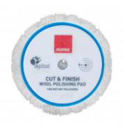 Жёсткий полировальный круг из шерсти для роторной машинки Rupes Cut & Finish Wool Polishing Pad 9.BL150F / 9.BL180F