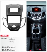 Переходная рамка Carav 11-305 FORD Fiesta 2008+ w/display (Black), 2-DIN
