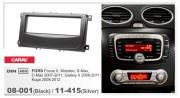 Переходная рамка Carav 11-415 FORD Focus II, Mondeo, S-Max, C-Max 2007-2011, Galaxy II 2006-2011, Kuga 2008-2012 (Silver), 1-DIN