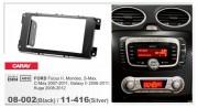 Carav Переходная рамка Carav 11-416 FORD Focus II, Mondeo, S-Max, C-Max 2007-2011, Galaxy II 2006-2011, Kuga 2008-2012 (Silver), 2-DIN