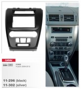 Переходная рамка Carav 11-296 FORD Fusion 2009-2012 (Black), 2-DIN