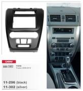 Переходная рамка Carav 11-302 FORD Fusion 2009-2012 (Silver), 2-DIN