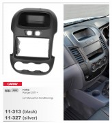 Переходная рамка Carav 11-313 FORD Ranger 2011+ (Manual Air-Conditioning) Black, 2-DIN