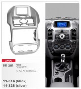 Переходная рамка Carav 11-314 FORD Ranger 2011+ (Auto Air-Conditioning) Black, 2-DIN