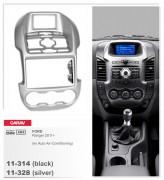 Переходная рамка Carav 11-328 FORD Ranger 2011+ (Auto Air-Conditioning) Silver 2-DIN