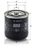Оливний фільтр MANN W 920/14