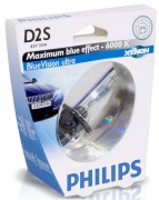 Philips Ксеноновая лампа Philips D2S Blue Vision ultra 85122 BVU S1