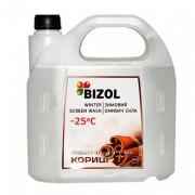Незамерзаюча рідина в бачок омивача з ароматом Цейлонської Кориці Bizol (4л)