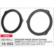 Комплект подиумов / проставок для динамиков Carav 14-002 в двери Ford Focus 2004-2010, C-Max 2003-2010, Fiesta 2005-2008, Kuga 2008-2012