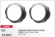 Комплект подиумов / проставок для динамиков Carav 14-001 в двери Ford  Focus, C-Max, Kuga