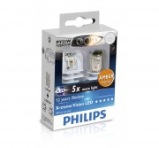 Комплект светодиодов Philips X-tremeVision (PY21W / BA15S) 12764X2 LED (4000K)