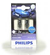 Комплект светодиодов Philips Vision WBT10 (T10 / W5W) 12935LEDX2 6700K