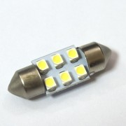 Светодиодная лампа Zax LED C5W (SV8,5) 1210 6SMD 31mm White (Белый)