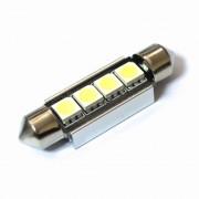 Светодиодная лампа Zax LED C5W (SV8,5) CAN 5050 4SMD 39mm White (Белый)