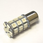 Светодиодная лампа Zax LED S25 (P21W 1156 BA15S) 5050 27SMD Red (Красный)