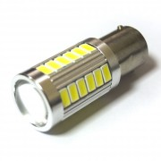 Светодиодная лампа Zax LED S25 (P21W 1156 BA15S) 5630 30SMD + 3SMD Lens White (Белый)