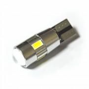 Светодиодная лампа Zax LED T10 (W5W) CAN 5630 4SMD + 2SMD Lens White (Белый)