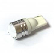 Светодиодная лампа Zax LED T10 (W5W) HIGH POWER 1SMD 1.5W Lens White (Белый)