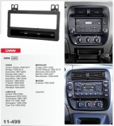 Переходная рамка Carav 11-499 Ford / Lincoln / Mercury / Mazda, 1-DIN