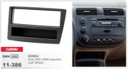 Переходная рамка Carav 11-386 Honda Civic 2001-2006 w/pocket (Left Wheel), 1-DIN