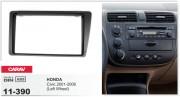 Переходная рамка Carav 11-390 Honda Civic 2001-2006 (Left Wheel / Black), 2-DIN