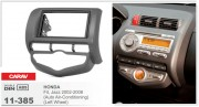 Переходная рамка Carav 11-385 Honda Fit, Jazz 2002-2008 (Auto Air-Conditioning) (Left Wheel), 2-DIN