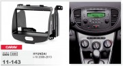 Переходная рамка Carav 11-143 Hyundai i-10 2008-2013, 2-DIN