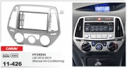 Переходная рамка Carav 11-426 Hyundai i-20 2012-2014 (Manual Air-Conditioning), 2-DIN