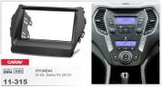 Переходная рамка Carav 11-315 Hyundai iX-45, Santa Fe 2012+, 2-DIN