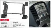 Переходная рамка Carav 11-411 Hyundai H-1, Starex 2007+, i800, iLoad, iMax 2008+ (Black), 2-DIN