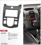 Переходная рамка Carav 11-413 KIA Cerato (TD), Forte (TD), Naza Forte 2009-2012 (Auto Air-Conditioning) (Black), 2-DIN